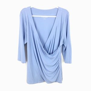 SOFT SURROUNDINGS DRAPED CROSSOVER TOP